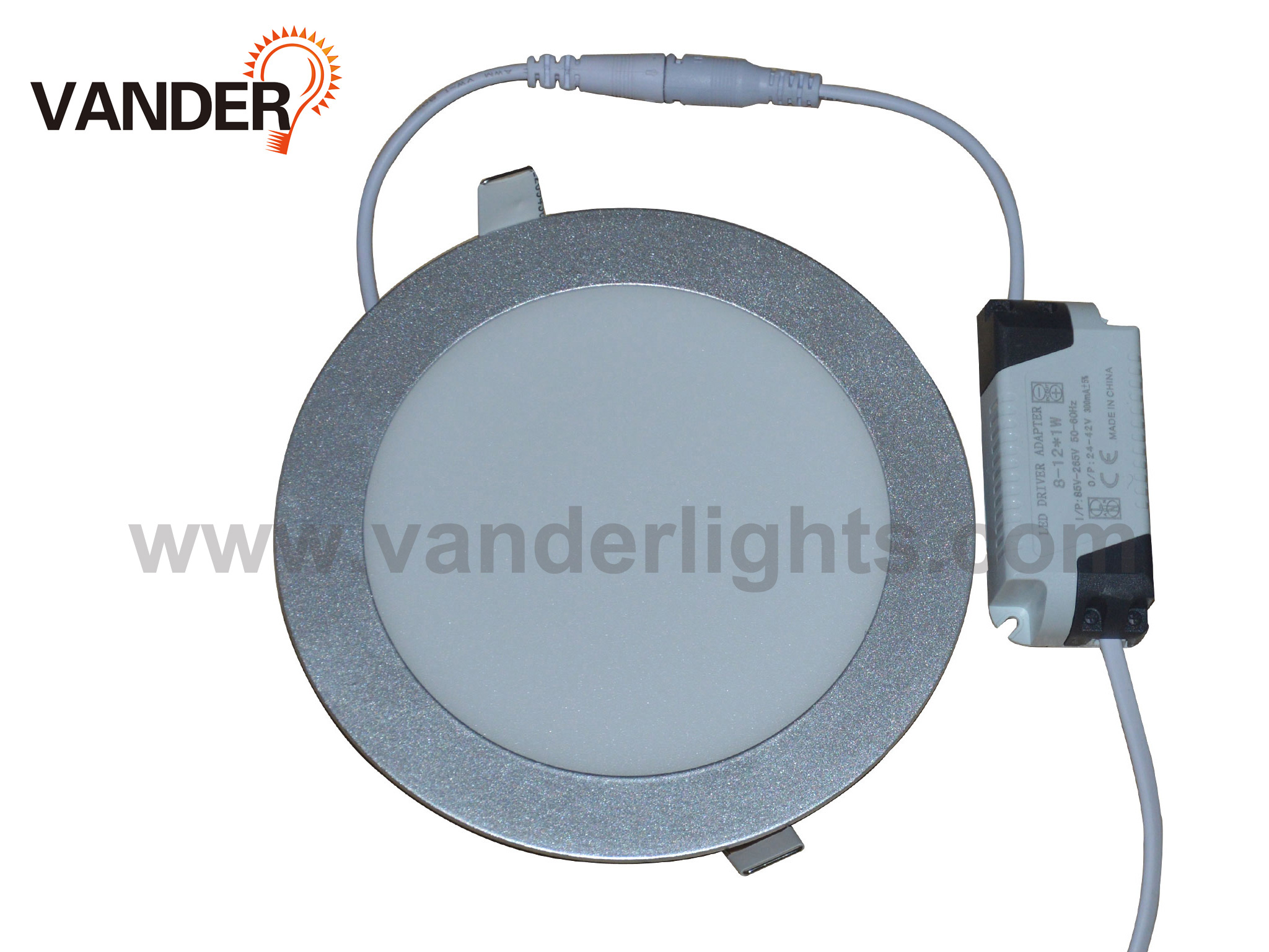 Silver Cover Round Panel Light from 3W to 24W