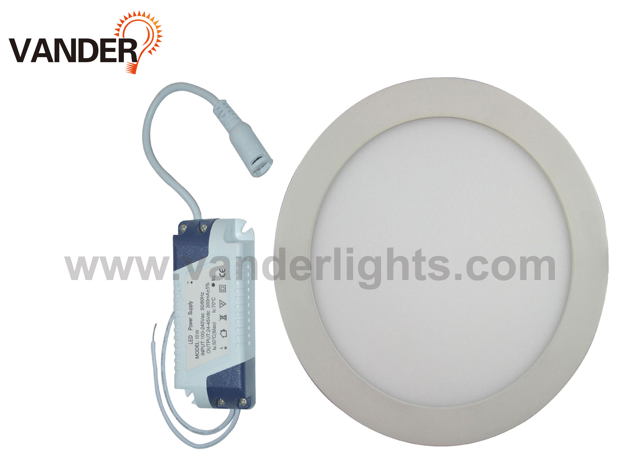 Round Series LED Panel Light from 3W to 24W