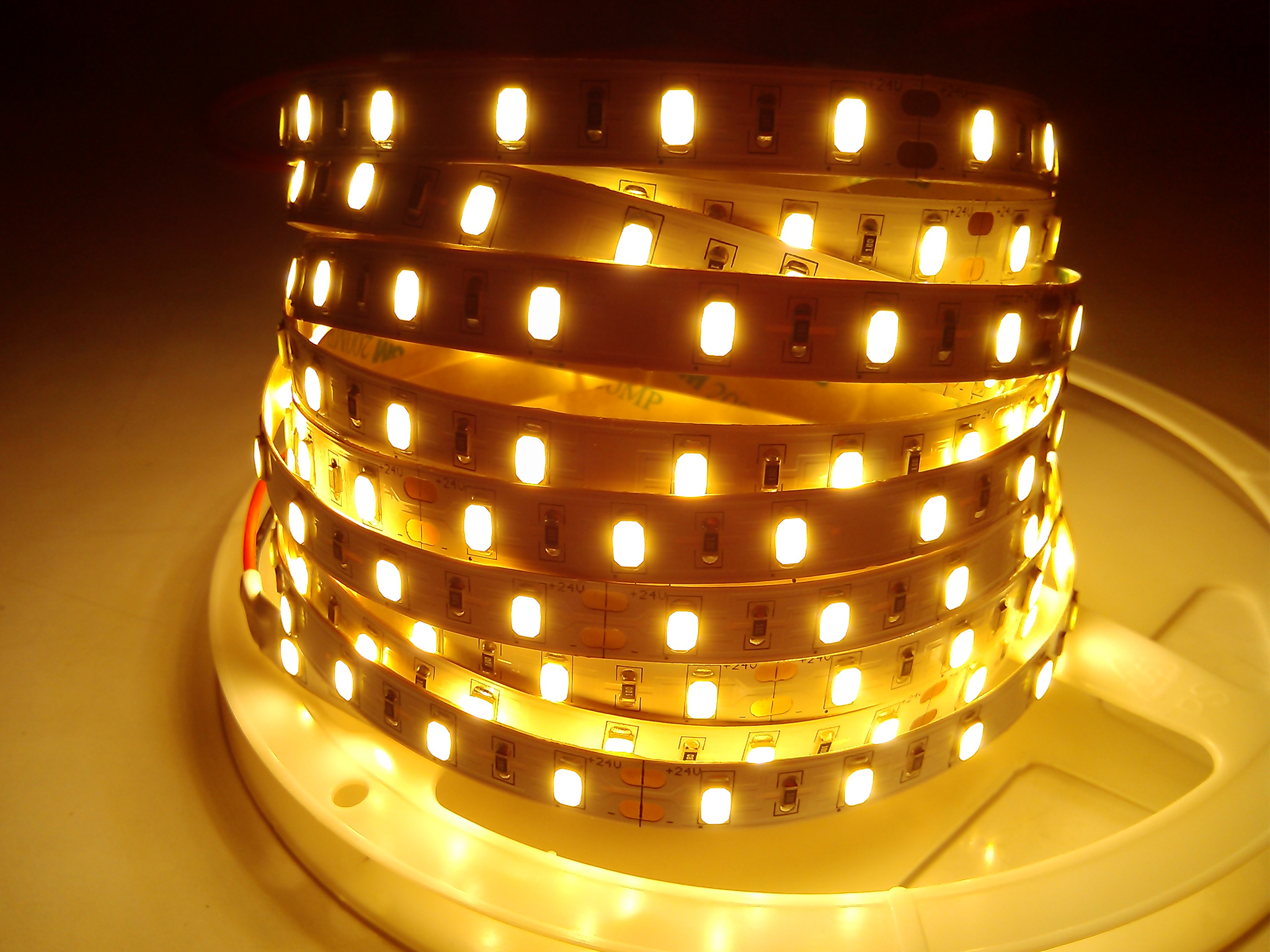 SMD5630-30leds 9W/m warm white IP20 LED flexible strip light