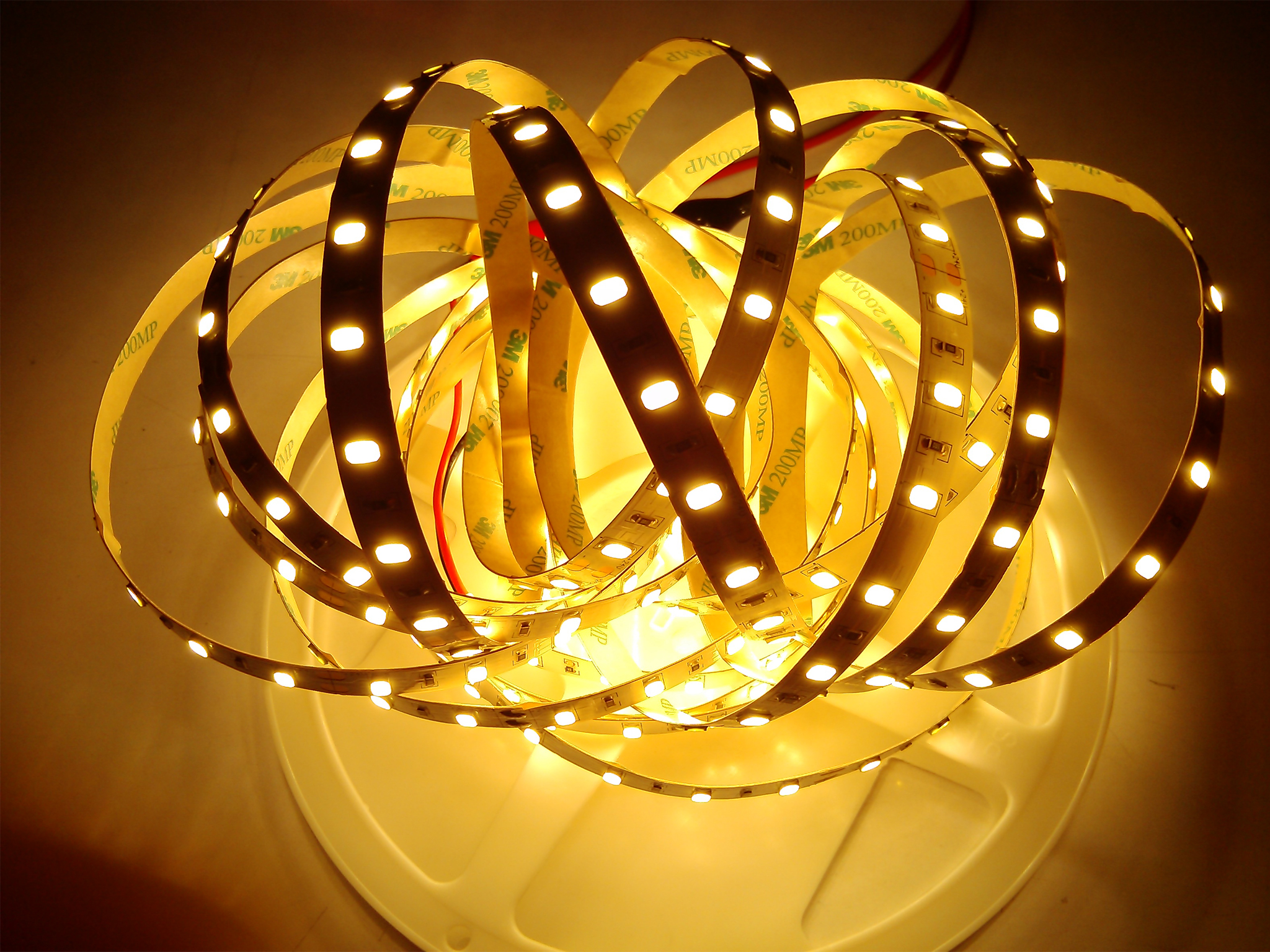 SMD5630-60leds 16W/m warm white IP20 LED flexible strip light