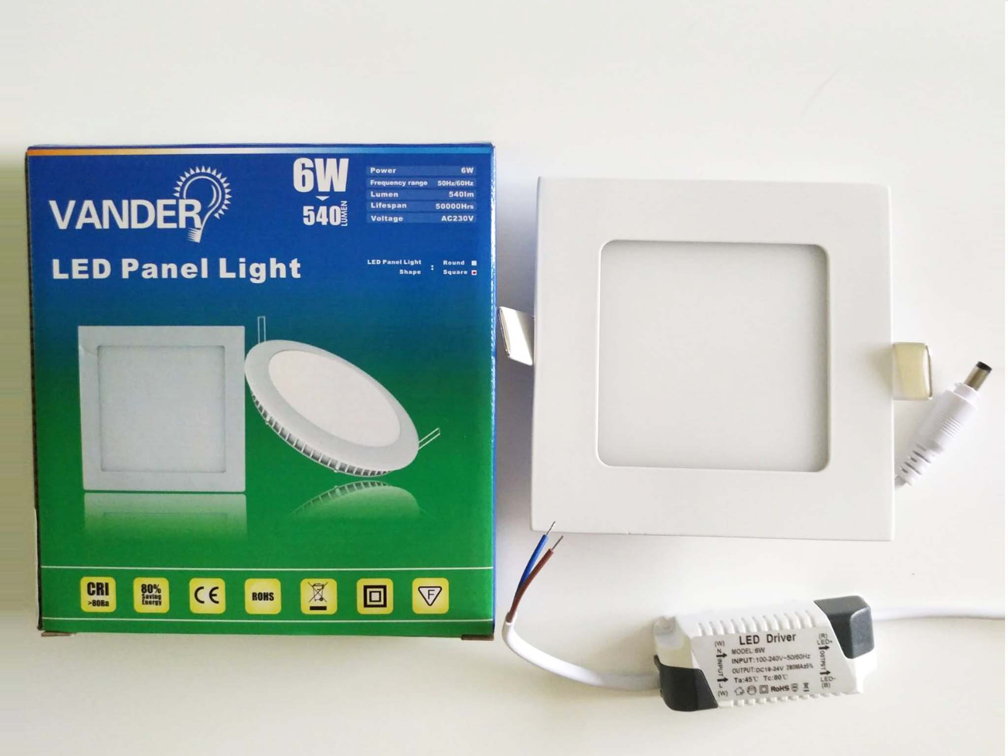 Colorful box package LED panel light 6W